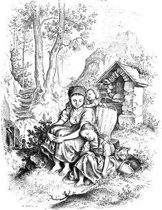 Ilustraciones en blanco y negro (Oscar Pletsch). Debate sobre LiveInternet - Servicio rusos Diarios Online