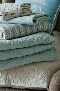 Ocean color quilts go great in any Beach Cottage