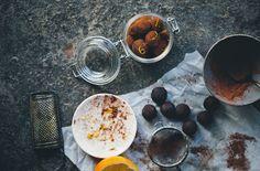 Orange & Ginger Chocolate Truffles