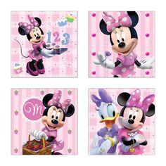 Minnie Mouse Set of 4 Canvas Art