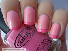 Nail Stories: Pink Wednesday!!! - Cliche Soft Pink & Pink French Tips