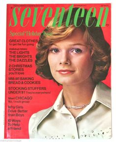 SEVENTEEN Magazine December 1973 Vintage 70s Fashion Beauty Tips CHRISTMAS ISSUE