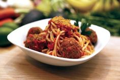 Vegan spaghetti and balls