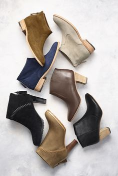 The Height of Style: Ankle boots are topping the trends, in rich textures and a range of highly walkable heels.