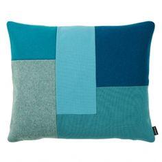 Brick cushion, turquoise