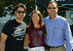 Mat, Kari from WBNA and Providence Mayor Taveras at #NeighborDays