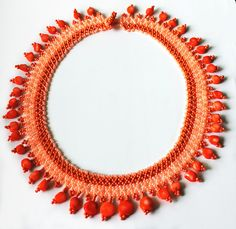 Free pattern for necklace Orange Kiss