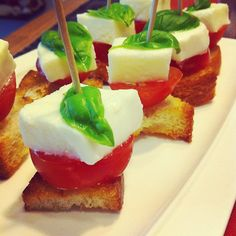 Any combo of cheese/meat/herbs on stick