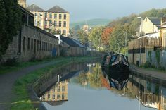 'Huddersfield Narrow Canal, Slaithwaite' by Mark Curry Mark Curry, Huddersfield Town, Canal Boat, Narrowboat, Future Travel, Yorkshire, Places To Go, Past, England