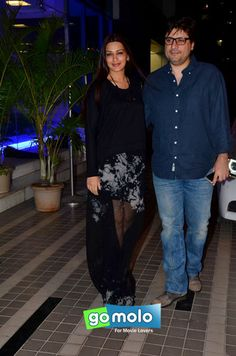 Sonali Bendre & Goldie Behl at Sajid Khan's birthday party in Mumbai