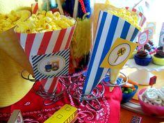Choo Choo Train Party Popcorn Cones