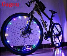 Amazon.com: Gugou Water Resistant Cool LED Bicycle Bike Cycling Wheel Light Safety Light Spoke Light Lamp Lightweight Accessory (colorful): Sports & Outdoors