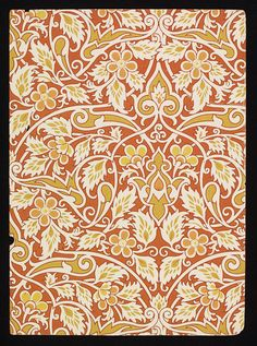 'Mecca' #wallpaper by Lewis Foreman Day, England ca. 1887-1900 l Victoria and Albert Museum