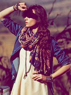 Floral print scarves.
