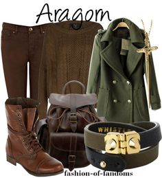 LOTR Lord of The Rings inspired outfit Aragorn Love the cost and rucksack