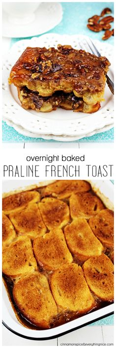 Overnight Baked Praline French Toast