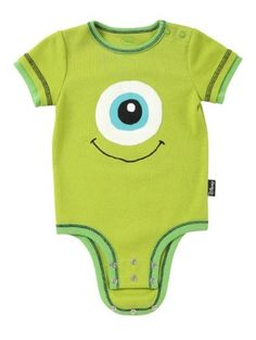 "Disney Cuddly Bodysuit - Disney / Pixar MONSTERS, INC."" Eye"""