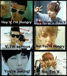 BTS Hungry and V XD