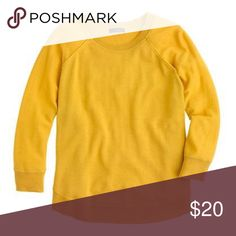 J Crew swing sweater in mustard yellow Merino wool. Great condition- selling as it no longer fits. Oversized. Loved this with black & white! J. Crew Sweaters Crew & Scoop Necks