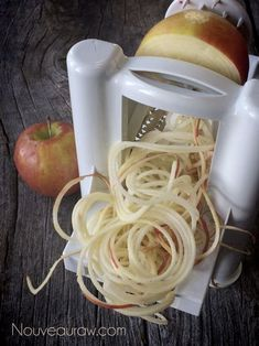 """Apple Noodles (this site has all different kinds of fruit and vegetable """"noodles"""")"""