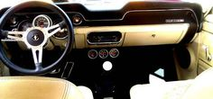 Parchment Interior '68 Mustang w/Moto-Lita leather wheel