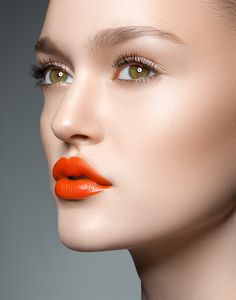 Orange lips - Make-up
