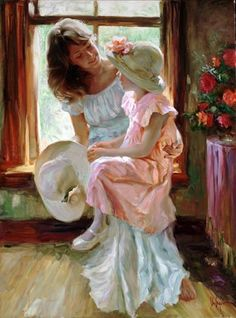 Vladimir Volegov  I would love to have an oil painting of this. How sweet.