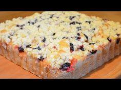 Пирог на кефире (или кислом молоке) с ягодами и фруктами БЫСТРО БЕЗ МИКСЕРА - YouTube
