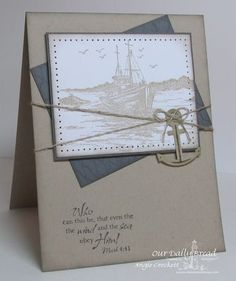 Stamps - Our Daily Bread Designs The Waves on the Sea, Fishing Net Background