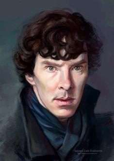 Sherlock Holmes Benedict Cumberbatch, Sherlock Holmes Bbc, Benedict Sherlock, Moriarty, Sherlock Series, Sherlock Quotes, Sherlock Wallpaper, Pastel Artwork, Digital Portrait