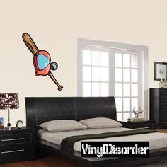 Baseball Wall Decal - Vinyl Sticker - Car Sticker - Die Cut Sticker - CDScolor116