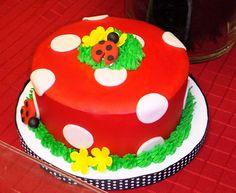 red and black ladybug first birthday party dessert table polka dot smash cake Ladybug Smash Cakes, Cake Smash, Fondant Cakes, Cupcake Cakes, Ladybug 1st Birthdays, Birthday Party Desserts, Birthday Cake, Jungle Cake, Ladybug Party