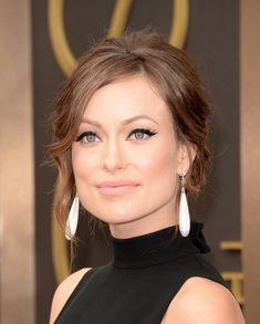 Olivia Wilde with the (Imaginary) Honorary Oscar for the Most Perfect Cat Eye