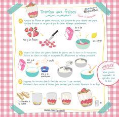 Recette : Tiramisu Fraise ! Miam Miam ! Kids Cooking Recipes, Cooking With Kids, Fun Cooking, Kids Meals, Strawberry Tiramisu, Strawberry Recipes, Drink Recipe Book, Tiramisu Recipe, Little Chef