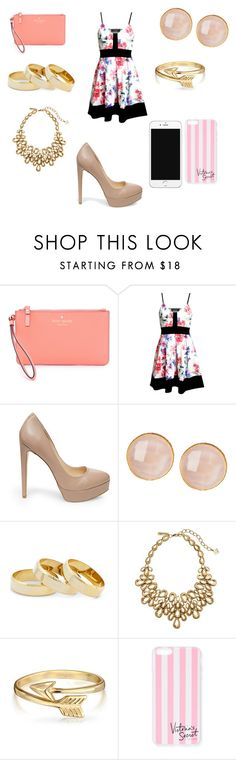 """""""Untitled #248"""" by dougherty-jenny ❤ liked on Polyvore featuring Kate Spade, Steve Madden, Saachi, Sole Society, Oscar de la Renta, Bling Jewelry, Victoria's Secret, women's clothing, women and female"""