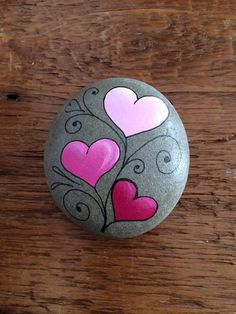 A perfect little token of love for Valentine's Day! #paintedrocks #valentines #ad #hearts