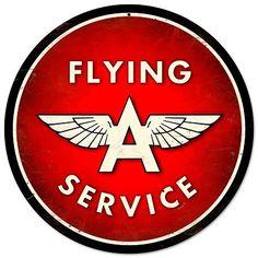 Flying A Service Vintage Metal Sign