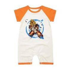 Dragon Ball z Goku baby clothing available in months Baby Girl Romper, Baby Boy Newborn, Baby Bodysuit, Baby Boys, Pyjamas, Dbz Clothing, Baby Boy Outfits, Kids Outfits, Pikachu