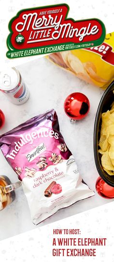 When it comes to holiday entertaining, you can never have too many fun and creative party ideas! This white elephant gift exchange for example, is a great way to gather friends and family during this festive season in a kid-friendly and casual way. Plus, once you check out these recipes for sweet and salty treats and scrumptious dish ideas featuring Lay's Kettle Cooked Chips, you'll see how easy hosting the annual get together can be!