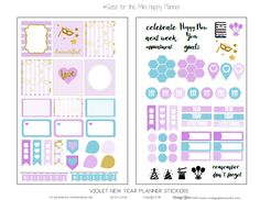 "Hello peeps!  I thought yesterday's post was going to be my last freebie of the year but I started working with my new mini planner and well you'll see what follows.  Today, I am excited to release a new ""freebie"" printable that I designed that has ""planner stickers""  that will fit my newly purchased Mini … Continue reading Mini Happy Planner – Violet Planner Stickers →"