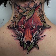 Fox Tattoo by Dean - Fox Tattoo by De . - - Fox Tattoo by Dean – Fox Tattoo by De … – - Fox Tattoo Men, Fox Tattoo Design, Fox Tattoos, Deer Tattoo, Neck Tattoos, Raven Tattoo, Sleeve Tattoos, Traditional Tattoo Animals, Neo Traditional Tattoo