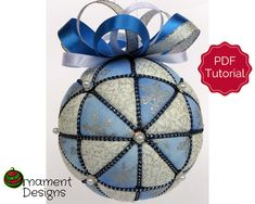 Christmas Ornament Tutorial - Pattern - Instructions - DIY - No Sew - Windmills Quilted Ornaments, Diy Christmas Ornaments, Christmas Bulbs, Fabric Ornaments, Ornament Crafts, Holiday Crafts, Christmas Wreaths, Christmas Decorations, Ribbon Quilt