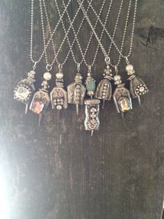 Vintage Silverware Bell Necklace with Extra Bling