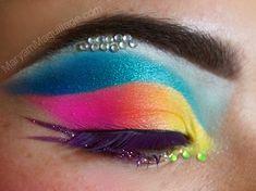Tropical brights eyeshadow makeup