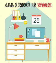 """Te mostramos diez consejos para trabajar desde tu propio hogar organizándote bien para que no """"se te caiga la casa encima"""" y seas más productivo."""