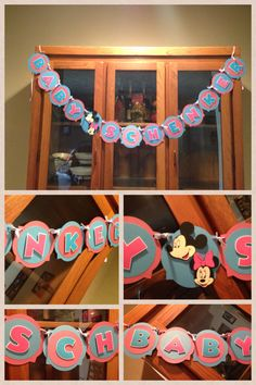 Gender reveal- mickey and minnie theme- Facebook.com/katiescraftycreations