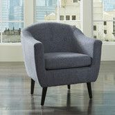 Klorey - Charcoal - Accent Chair by Signature Design by Ashley. Get your Klorey - Charcoal - Accent Chair at JB's Furniture, Milwaukee WI furniture store. Ashley Furniture, Charcoal Accent Chair, Contemporary Accent Chair, Chair, Furniture, Mid Century Accent Chair, Ashley Furniture Homestore, Accent Chairs, Barrel Chair