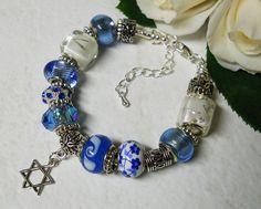 Hey, I found this really awesome Etsy listing at https://www.etsy.com/listing/166429349/hanukkah-blue-european-style-blue-beaded