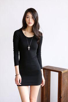 Corrugated Slim Dress