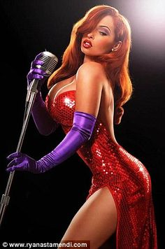 Jessica Rabbit brought to life by Disney character artist Ryan Astamendi's photographs